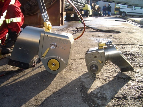 Hydraulic Torque Wrenches On Construction Site