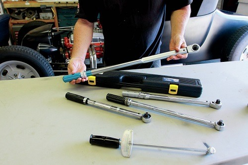 Several Torque Wrenches Of Different Types
